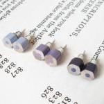 Color pencil earing studs, ..