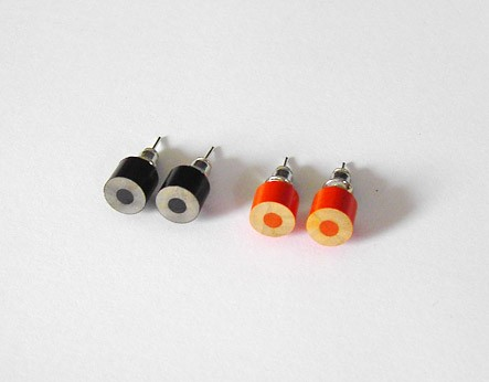 color pencil earring studs, The Halloween Edition